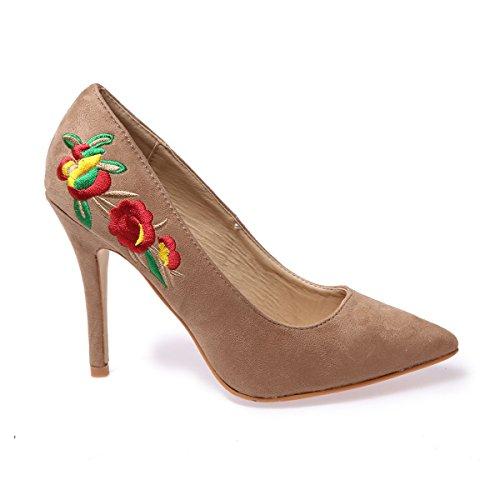 Tacchi Donna Le Scarpe Beige Fashionista Ricamate xqn8wFBgSv