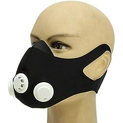 OUTEFDO Mascara de Entrenamiento Deportivo Formacion Elevacion de la Mascara Ajustable 2.0 Altitud Entrenamiento Anaerobico Color Negro