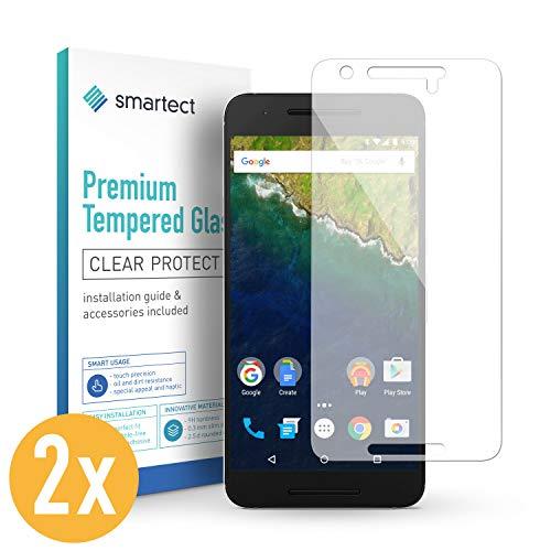 smartect Panzerglas für Google Huawei Nexus 6P [2 Stück] - Displayschutz mit 9H Härte - Blasenfreie Schutzfolie - Anti Fingerprint Panzerglasfolie