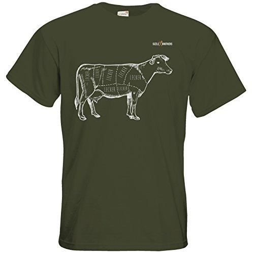 getshirts - SizzleBrothers Merchandise Shop - T-Shirt - SizzleBrothers - Grillen - Meatmap Khaki