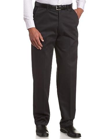 Haggar Men's Big-Tall Work to Weekend Hidden Expandable Waist Plain Front Pant,Dark Navy,48x29