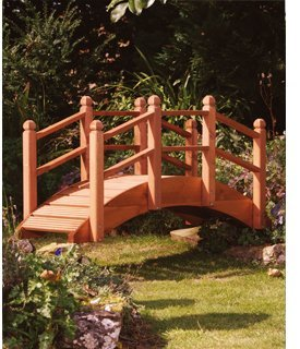 Wooden Garden Bridge in Teak for Ponds Streams OGD092