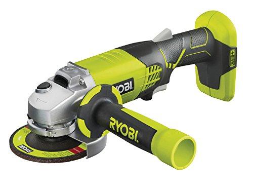 Ryobi R180AG-0 - Amoladora angular (7500 RPM, Negro, Verde, Batería, Ión de litio, 18 V, 2,2 cm)