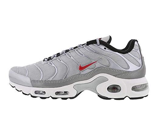 Nike Original Air Max Plus Tuned 1 TN QS Metallic Silver Sneaker 887092 001, Silber - Metallic Silver Red - Größe: 40.5 EU