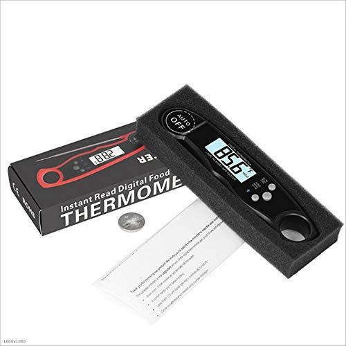 DGKNJ Fleischthermometer Küchengrill-Thermometer-Lebensmittel, das digitales Thermometer Ultra schnelles sofortiges Lesen-Touch-Knopf kocht zum Kochen in der Küche, BBQ (Farbe : Blau) -