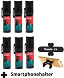 "6 Stück K.O. - Spray 007 CS-Gas, Reizgas - 15ml - inkl. Smartphonehalter ""TOUCH-U"""