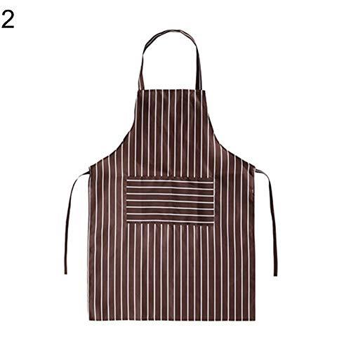 Gracorgzjs fashion stripe - grembiule da cucina senza maniche, a prova di olio coffee