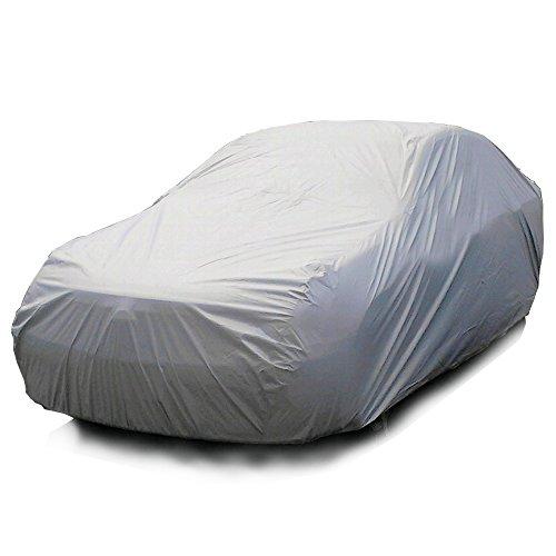 Xfay HX520 Hochwertige AutoabdeckungAutoabdeckung Vollgarage einzelschicht Autoplanen für Winter & Sommer Witterungseinflüssen, Sonnenstrahlung, Staub und Schmutz-(Größe:L 480*175*120CM)