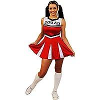 I Love Fancy Dress ilfd4060X L Costume da cheerleader, squadra con gonna a pieghe e stampa (XL)