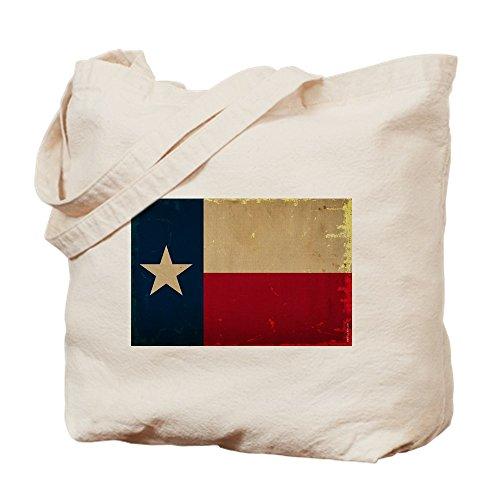 CafePress Einkaufstasche, Motiv: Texas State Flag, canvas, khaki, S