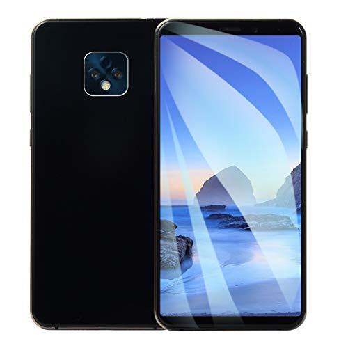 FeiliandaJJ Smartphone 6.1 Inch Face ID 1GB+8GB Quad-Core Dual SIM Ultra Dünn HD Bildschirm Android 6.0 Smartphone Ohne Vertrag Günstig Handys Mobile Phone 2800mAh Extra Lange Standby (Schwarz) (Freigeschaltet Für Handy T-mobile)