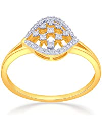 Malabar Gold And Diamonds 18KT Yellow Gold And Diamond Ring For Women