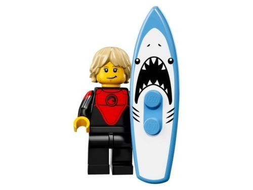 Lego Minifigures Series 17 - #1 PROFESSIONAL SURFER Minifigure - (Bagged) 71018
