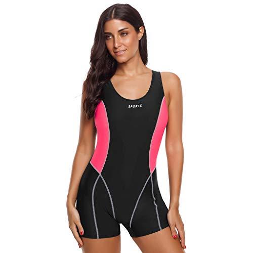 Committede Damen Tauchanzug Active Short Sleeve Shorty Damen-Tauchanzug - Badeanzug, Surfanzug,Schwimmen, Tauchen Tankini Sets für Schwimmen Surfen Tauchen Sport Badeanzug