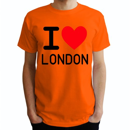 I love London Herren T-Shirt Orange