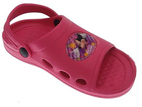 Piccoli monelli ciabatte bambina di topolino tipo crocs a fascia aperte avanti colore rosa tg 30