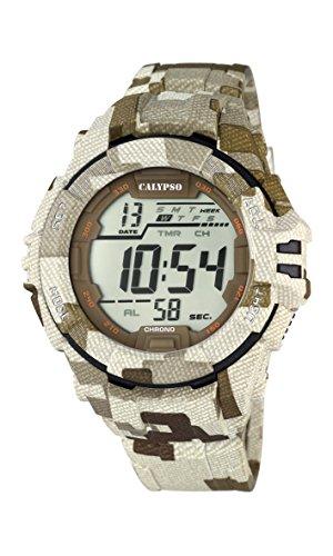 Calypso Orologio da uomo digitale con LCD Display digitale e cinturino di plastica multicolore per K5681/2