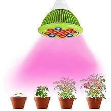 LemonBest® LED de Luces de Crecimiento de Los Bulbos, 12W LED de la lámpara hidropónica para plantas de flor Crecimiento Vegetal y Nuevas plantas de semillero