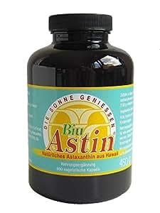 Astaxanthin - BiuAstin 600 vegetarische Kapseln | Hawaii | mit 4 mg natürlichem Astaxanthin - Das Original Ivarsson's BiuAstin - versandkostenfrei
