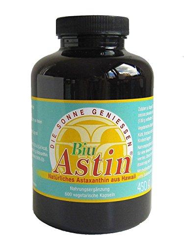 Astaxanthin - versandkostenfrei - BiuAstin 600 vegetarische Kapseln 4mg natürliches Astaxanthin - Das Original Ivarssons BiuAstin