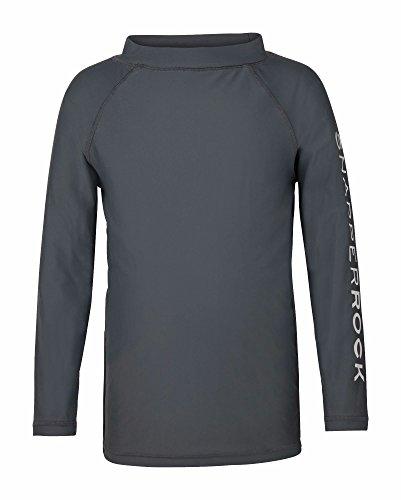 Snapper Rock Junge UPF 50+ Sonnen und UV Schutz Badeshirt langer Arm Rash Top für Kinder & Teenager, Grau, 2-3 jahre, 98-104cm
