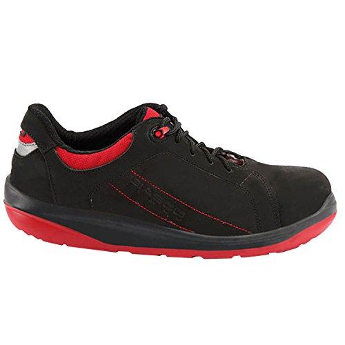 Giasco Halbschuh Sport S3, Größe 44, 1 Stück, schwarz / rot, 73N25C44 (Sport-industrie)