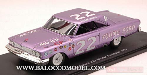 Spark Model S3597 Ford Galaxy N.22 Winner Darlington 1963 Fireball Roberts 1:43 kompatibel mit