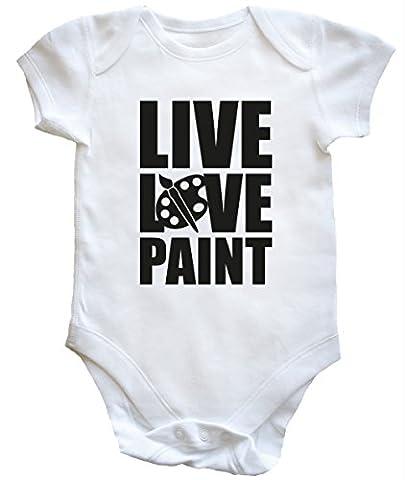 HippoWarehouse Live Love Paint baby vest boys girls