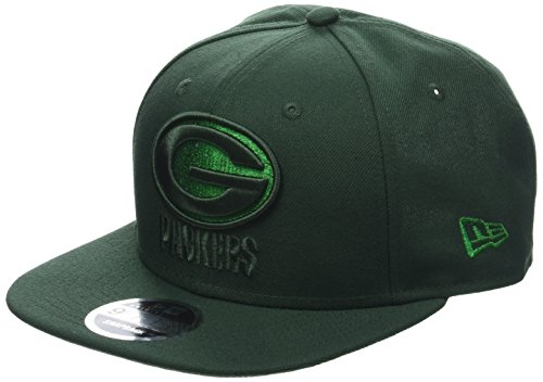 New Era Herren 9FIFTY Snapback Metallic Mark Green Bay Packers NFL Cap, Dark Green