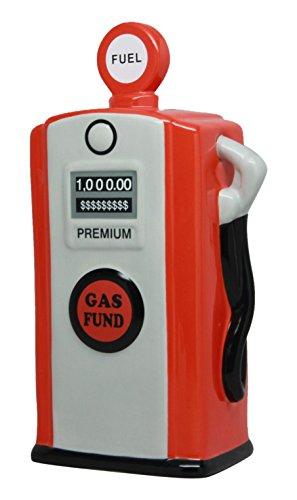 PTC Pacific Geschenkartikel Keramik Gas Pumpe Einsparung Piggy/Münze/Geld Bank, rot