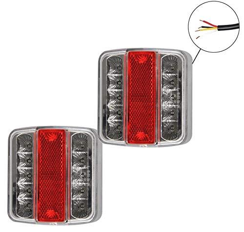 2 Stück DKB LED Universal Rückleuchten/Rücklichter für PKW KFZ Anhänger IP67