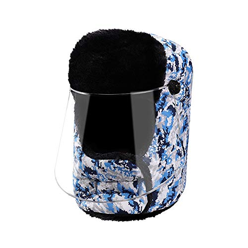 NKSS Winter Windsicher Schnupfen im Kopf Radfahren Hut Männer und Frauen Warm Cotton Hat Padded Lei Feng Hut Nebel Kalt Warm Kaltes Wetter Berg Hut Bombing Hut-Winter-Outdoor Sports Cotton Hut