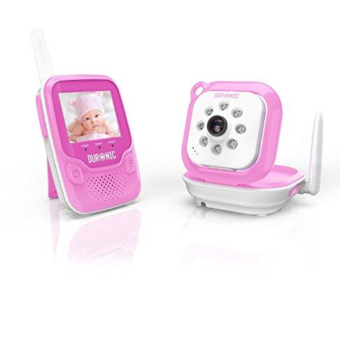 Duronic B101P Drahtloses Babyphone-Set mit Video- und Überwachungskamera und integrierte Nachtsicht - 250m Reichweite - Rosa Iphone 3g Wand