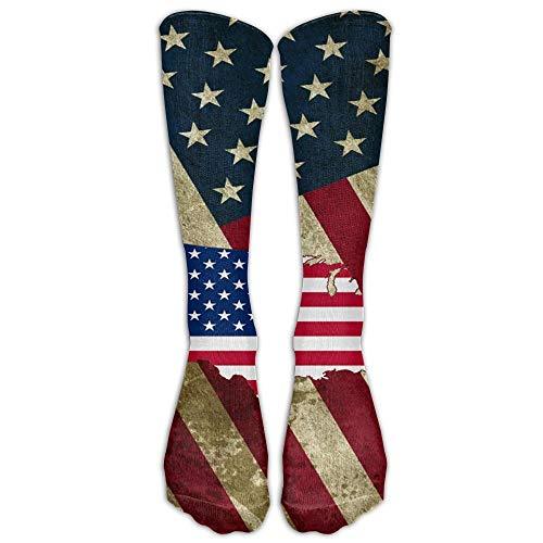 ouyjian Jeffostie Banner In Usa Flagge Unisex Lange Socken Crew Athletic Kniestrümpfe