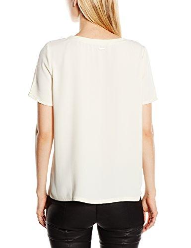 Calvin Klein Ebba Cn Top S/S - T-shirt - Femme Gris - (Egret-Pt 3)