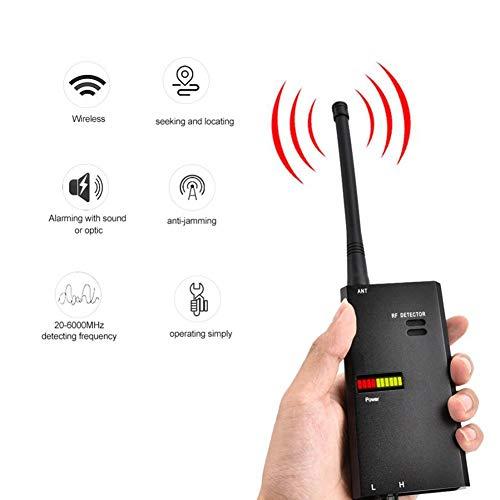Especificación:Banda de detección: 25-6000MHzSensibilidad: 0.05 mWBatería: batería de 9V 1000mAhDistancia de detección: 1-10 metros (aproximadamente 20-150 metros cuadrados)Precisión de posicionamiento: 10-30 cm.Indicación de señal: pantalla LED de n...