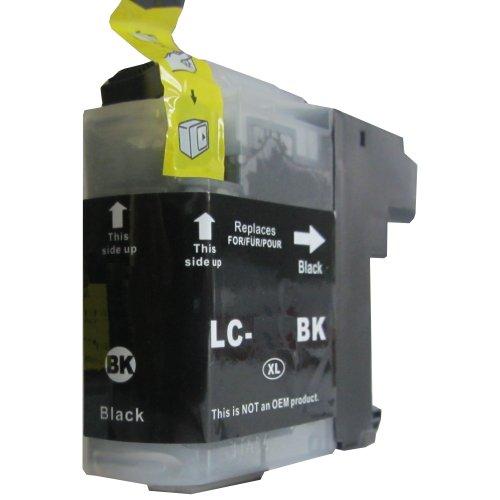 schwarze komp. Druckerpatrone für Brother LC 125 123 121 BK mit Chip