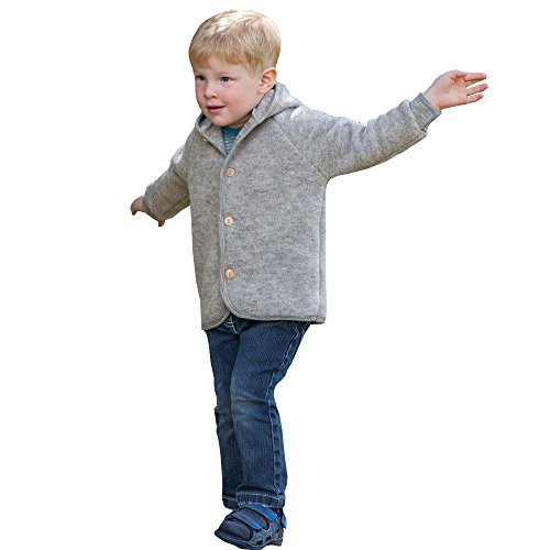 Baby-Jacke-Fleece-Schurwolle-Engel-Natur-Gr-5056-8692-3-Farben