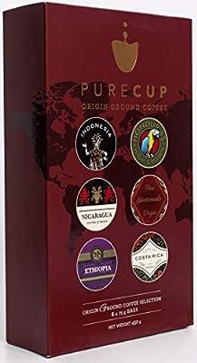 PureCup - Origin Ground Coffee Gift Set - 6 Origins | 75g Each by Purecup
