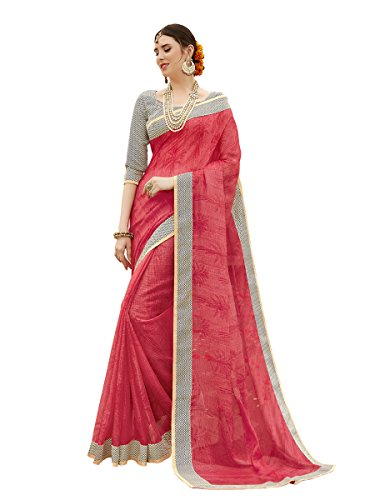 Shangrila Woman's Red Colour Kota Silk Saree