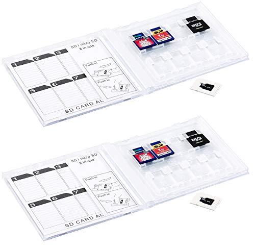 General Office SD Karten Album: SD-Speicherkarten-Album, 3er-Set für 24 Stück (SD Karten Hülle)