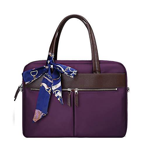 Computer-Tasche für Damen, niedliche kleine frische Laptop-Umhängetasche, Kuriertasche, regenfestes personalisiertes Business-Aktenkoffer-Dateipaket, geeignet für Business / Schule / Freizeit - lila -