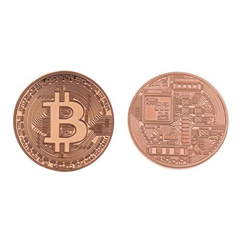 AmarzkNeue plattierte Rose Gold Bitcoin Münze Sammlerstück Münze Kunstsammlung Geschenk physisch (Sammlerstück Gold Münzen)