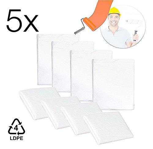 5x Nuevo–Skin protector de pantalla transparente 4x 5metros pantalla lona Vellón Maximum pantalla pintor vliesstoff-markt plástico requisitos de pintor pintor accesorios
