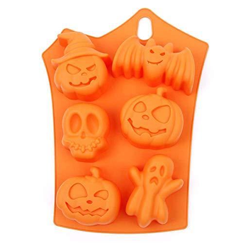 Halloween Kuchen Formen Halloween Silikonform Zum Backen und Basteln Fledermaus und Kürbisform Backen Dekoration für Kuchen Handgefertigte Kekse Schokolade
