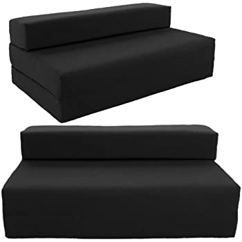 standard sofabed double sofa z bed chair futon black - Black Sofa