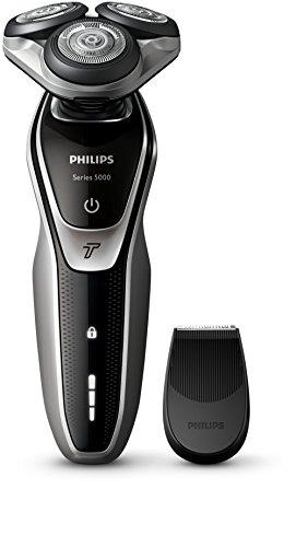 Philips SHAVER Series 5000 - Rasierer (Batterie, Lithium-Ionen, Rotation, Schwarz, Silber, LED, Ergonomie)