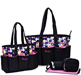 Best Large Diaper Bags - Foolzy 5 Pieces Polka Dot Diaper Bags Set Review