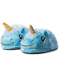Zapatillas Unicornio Casa para Mujer Niñas Zapatos de Felpa Casa Lindas de Invierno Pantuflas de Estar