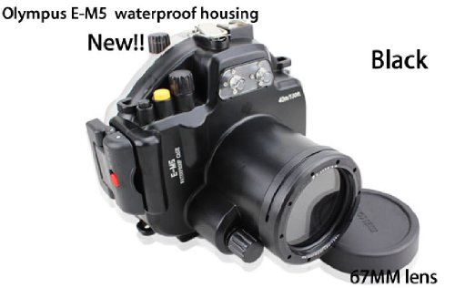 Best CameraPlus – 40M 130ft High Performance Underwater Case Camera Housing Diving for Olympus E-M5 with 12mm- 50mm lens Online